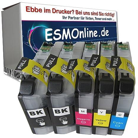 5 MultiPack ESMOnline comp. XL Cartuchos de V2 Chip Brother MFC J480DW J880DW J4420DW J4620DW J4625DW J5320DW J5620DW J5625DW J5720DW J680DW Brother ...