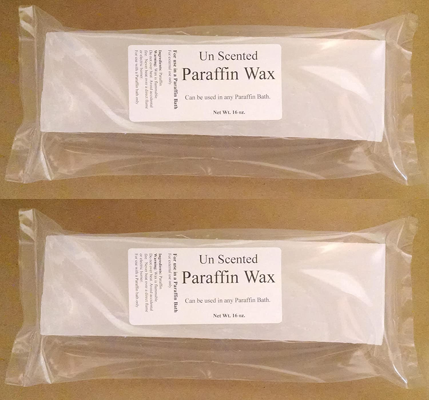 Amazon Unscented Spa Wax 2 Pounds Paraffin Refill Un Scented The Salt Baron Fragrance Free Health Personal Care