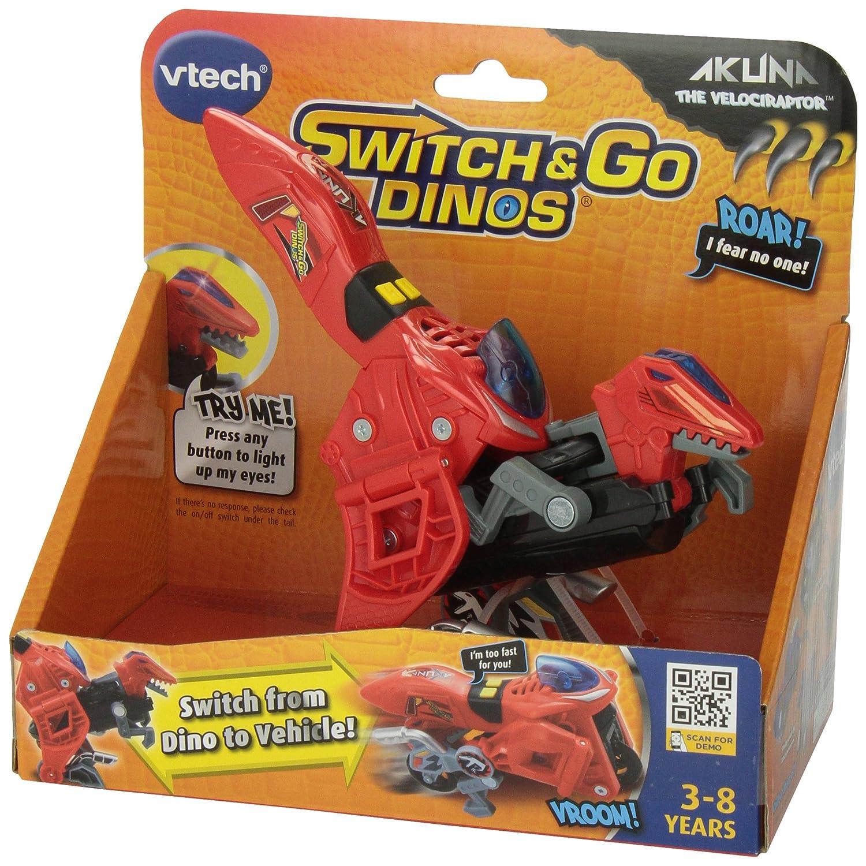 Akuna The Velociraptor Dinosaur V Tech 80-140900 VTech Switch /& Go Dinos