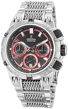 1c51ca2f2a113 Festina - F16774/8 - Montre Homme - Quartz Analogique - Chronomètre - Bracelet  Acier