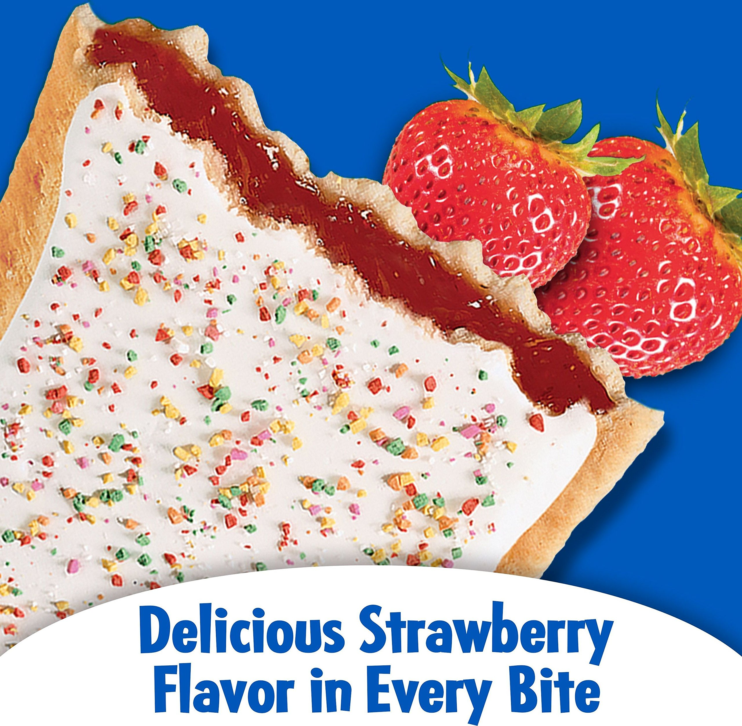 Pop-Tarts BreakfastToaster Pastries, Frosted Strawberry Flavored, Family Pack, 58.6 oz (32 Count)