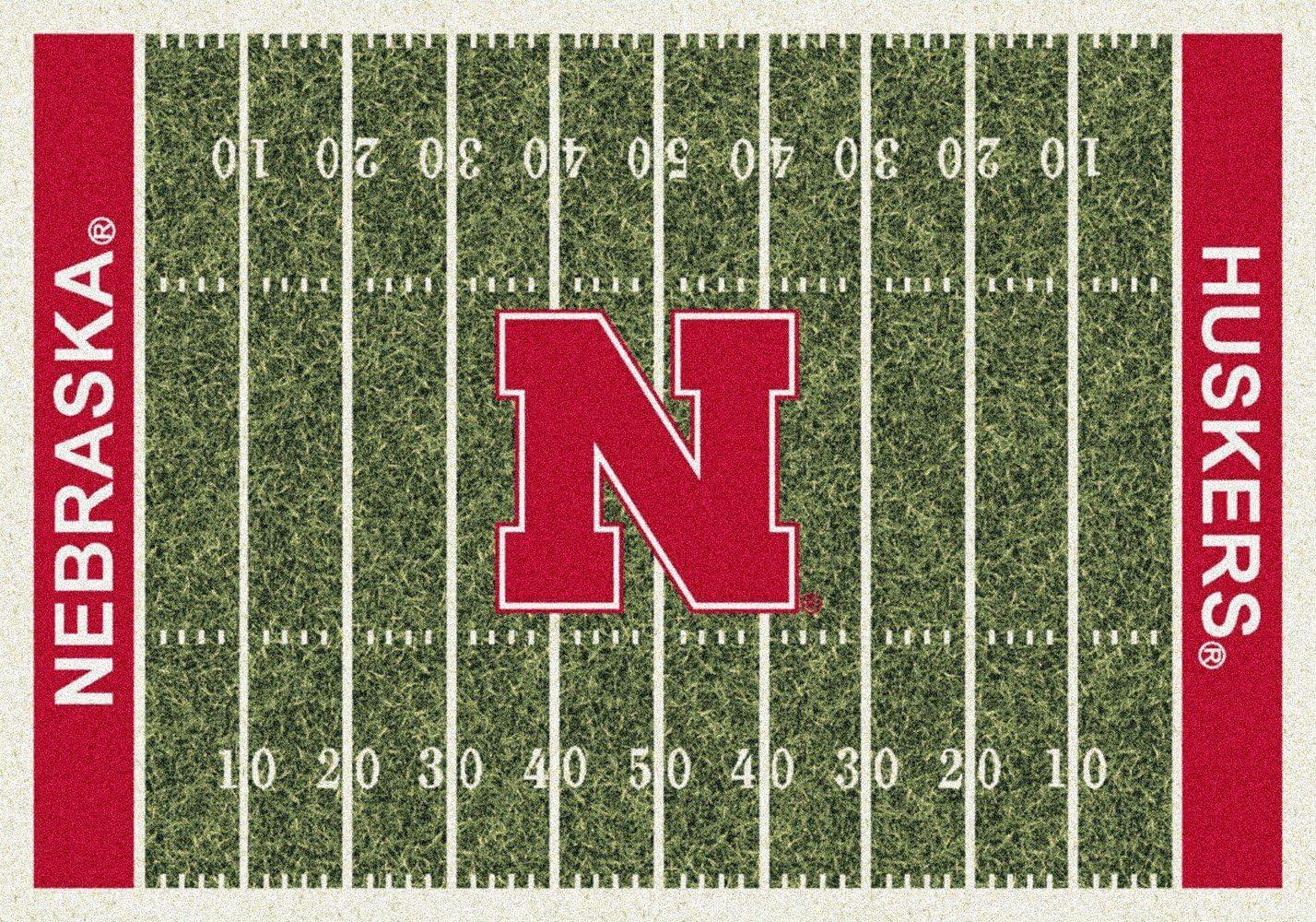 American Floor Mats Nebraska Cornhuskers NCAA College Home Field Team Area Rug 5 4 x7 8