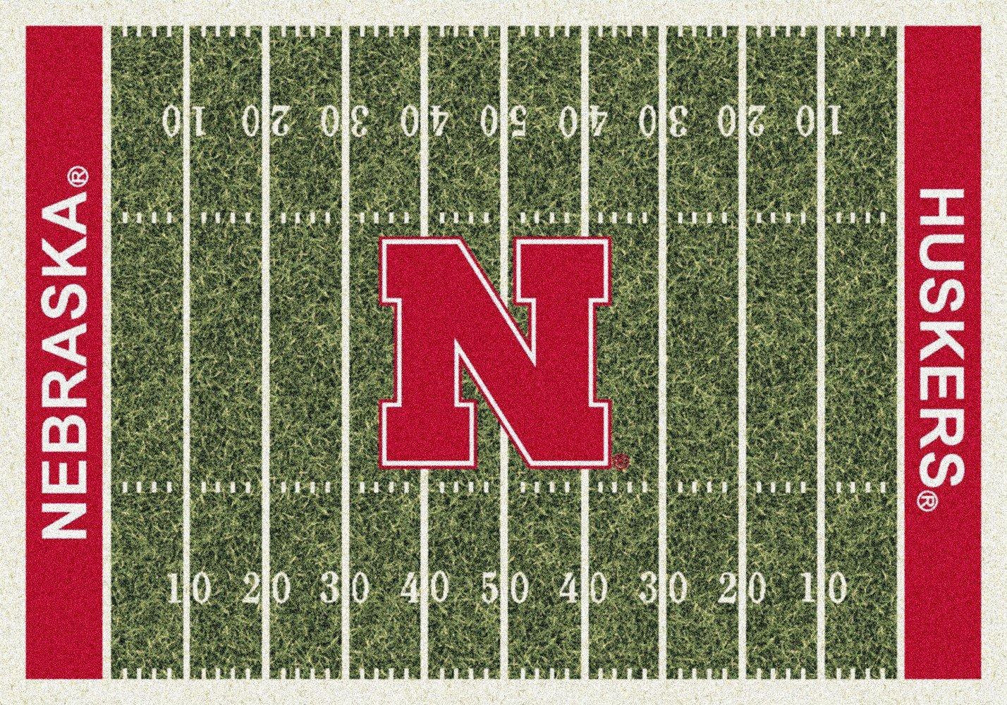 American Floor Mats Nebraska Cornhuskers NCAA College Home Field Team Area Rug 3'10'' x5'4 by American Floor Mats