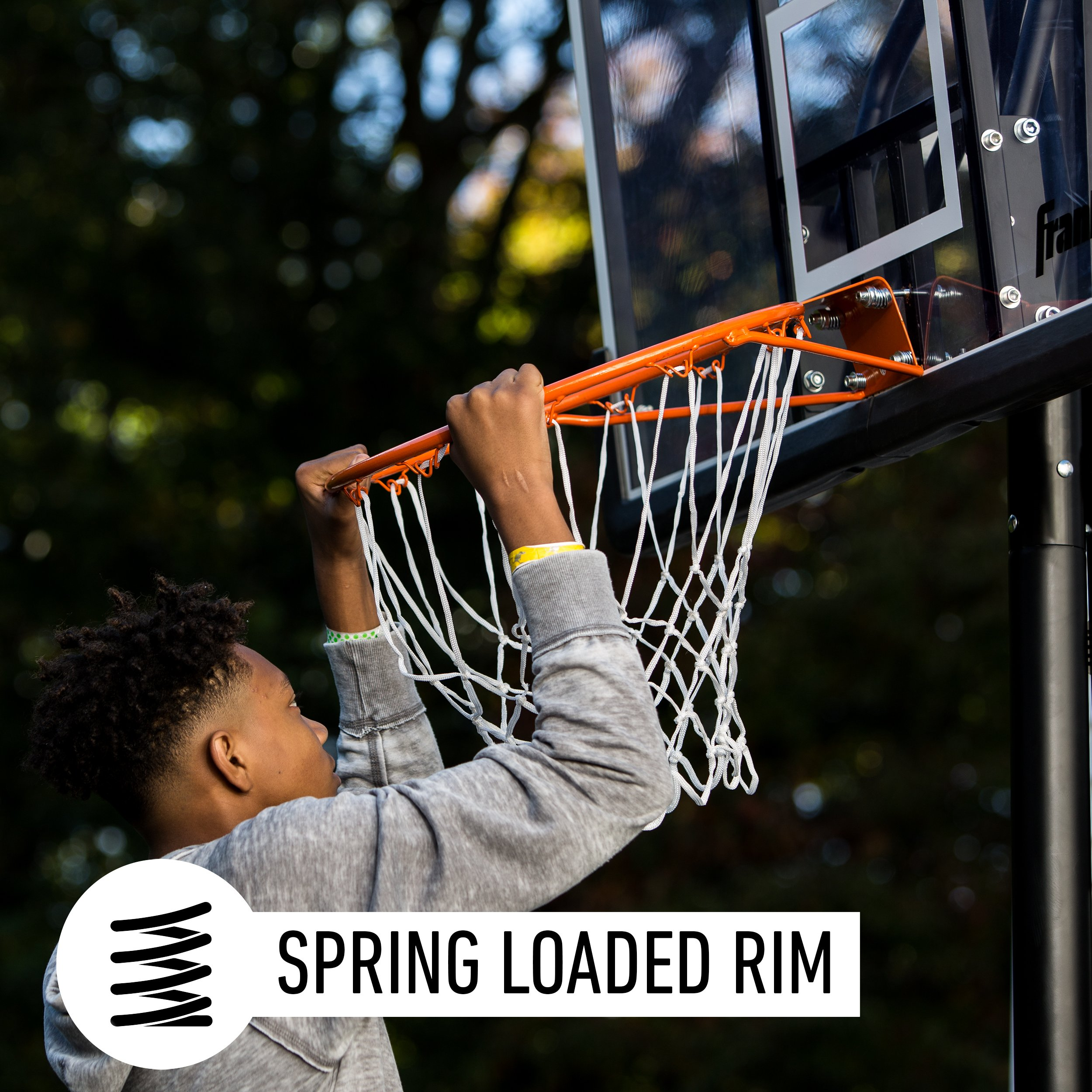 Franklin Sports Portable Basketball Hoop – Authentic Street Basketball Hoop for Adults and Kids – Adjustable Basketball Hoop with Rolling Mechanism – Play Basketball in Your Driveway by Franklin Sports (Image #2)