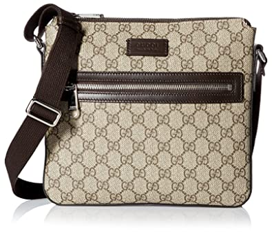GUCCI Men s Small Flat GG Supreme Canvas Messenger Bag dcfb72c283be9
