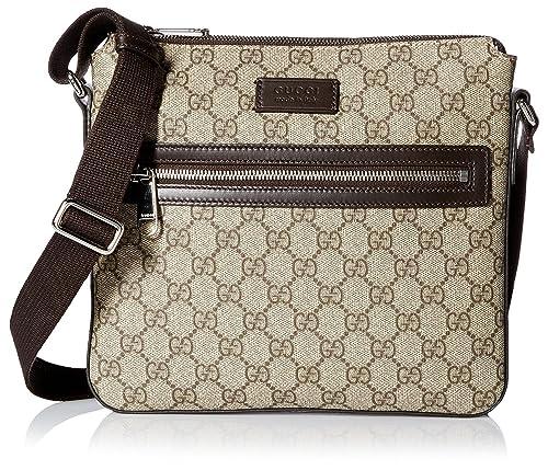 0773fae3708 GUCCI Men s Small Flat GG Supreme Canvas Messenger Bag