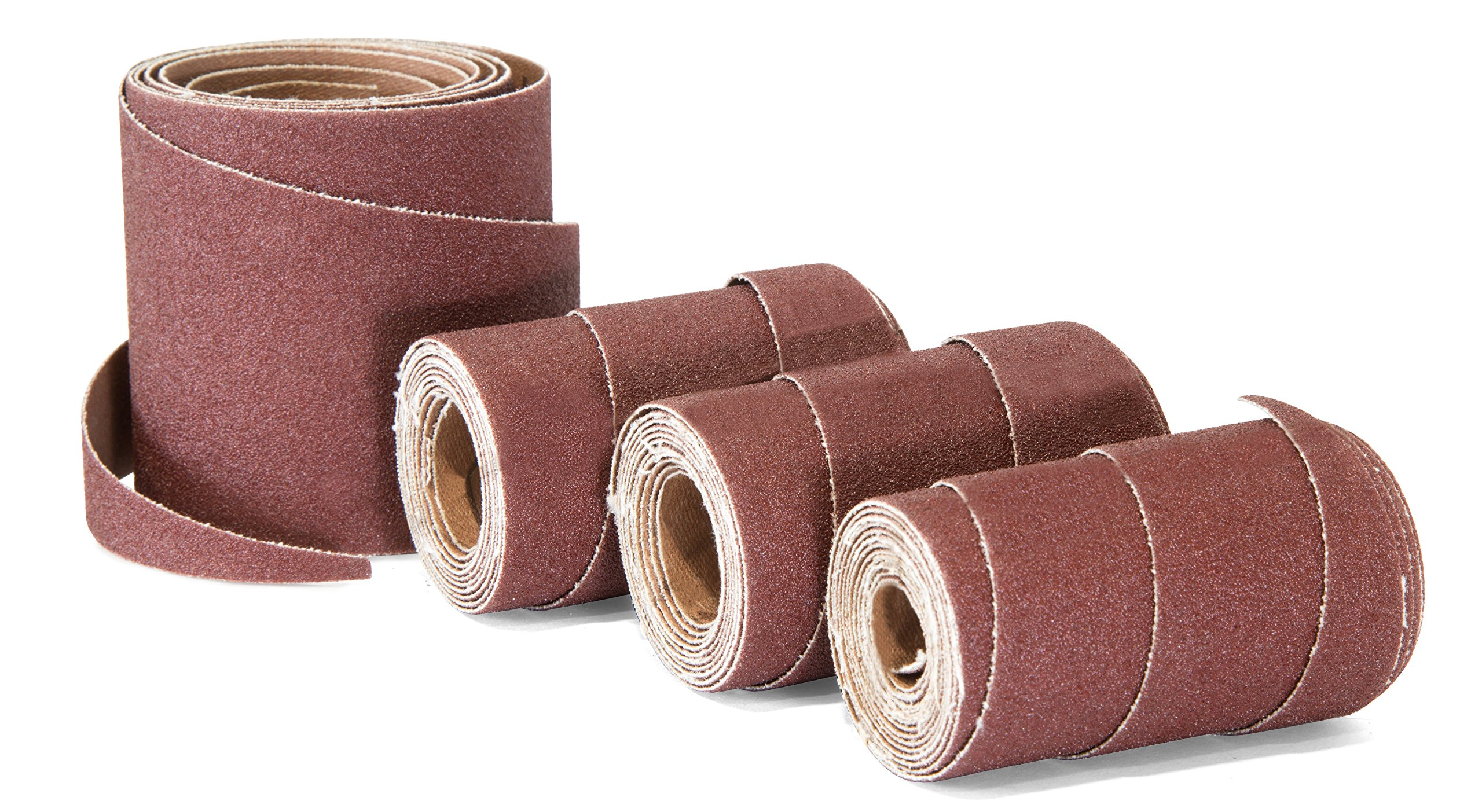 WEN 65910SP120 120-Grit 10-Inch Pre-Cut Ready-to-Wrap Drum Sander Sandpaper, 4-Pack