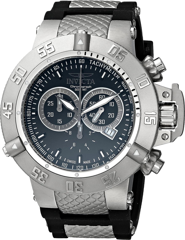 Invicta Men s 1380 Subaqua Noma III Chronograph Black Dial Black Silicone Watch