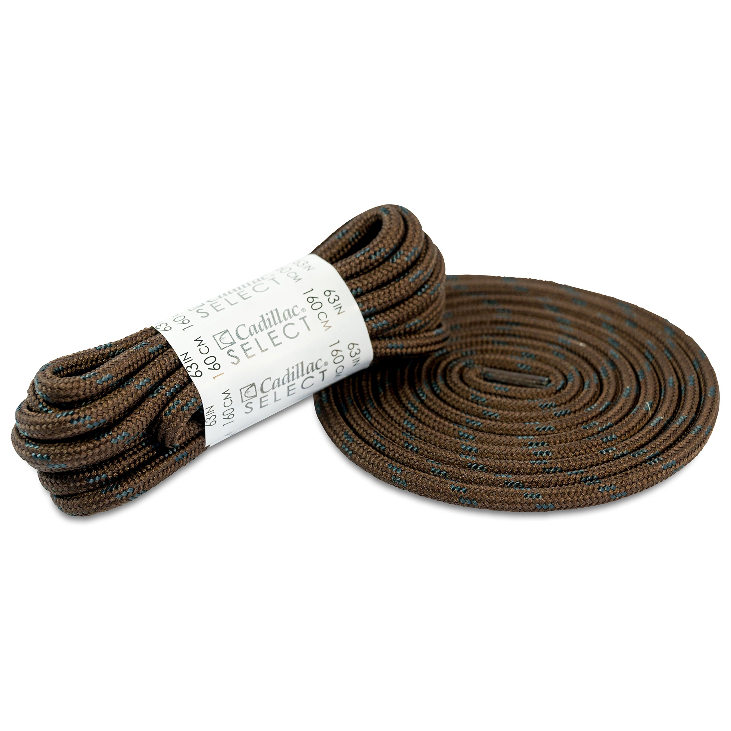 """Cadillac Select Kevlar Boot Laces 3/16"""" Thick - Black & Brown Laces - 3 Pairs - Shoelaces for Boots"""