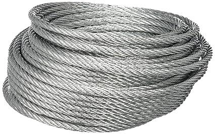 BriTools M86118G Cable acero galvanizado, 5 mm, Set de 15 Piezas