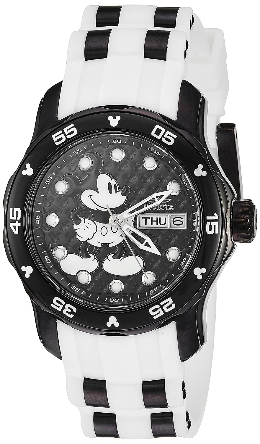 6326f9c91a5 Amazon.com  Invicta Women s  Disney Limited Edition  Quartz Stainless Steel  and Silicone Casual Watch