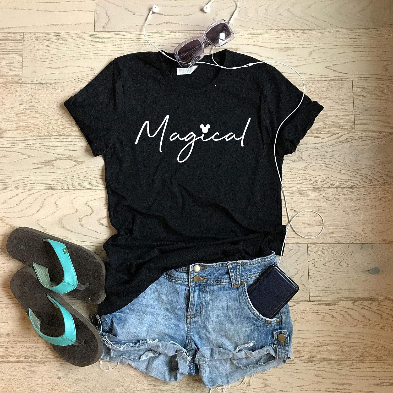 Medium//Black Crew//Magical////Disney Trip T Shirt//Screen Printed W Eco Ink//Cool T Shirt//Disney Trip T Shirt//Unisex Fit From Bella Canvas//Crew-Neck Shirt//Free Shipping//