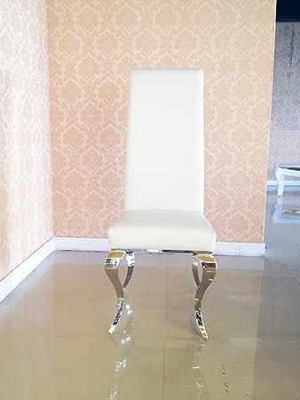 Stühle weiß kunstleder  XXL Designer Saphir Kunstleder Esstischstuhl Esszimmerstuhl ...