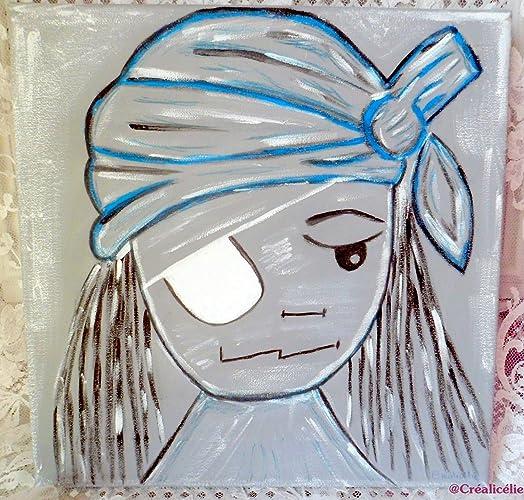 tableau pirate acrylique pour la chambre de votre petit garon dcoration murale