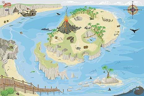 Le Toy Van - Alfombra para juegos, diseño de isla del tesoro
