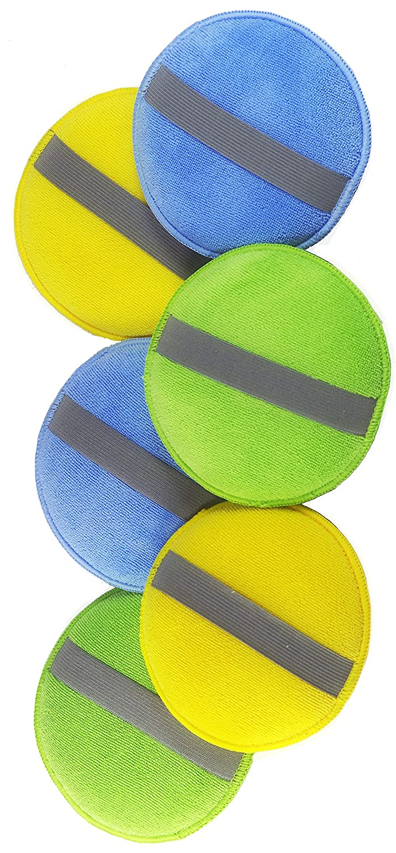 glart 46PP Pad di lucidatura con microfibre con l'elastico nel set di 6: 2 medie blu,  2 verde e 2 pastiglie Alclear International