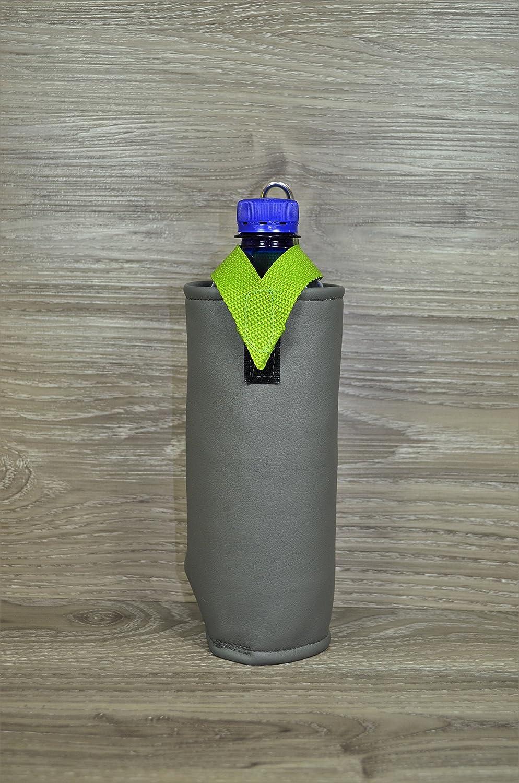 Flaschenhalter Dunkelgrau mit Thermoschicht Kunstleder