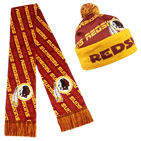 981d5ee2942 Amazon.com   NFL Adult s Light Up Printed Beanie And Scarf Set ...