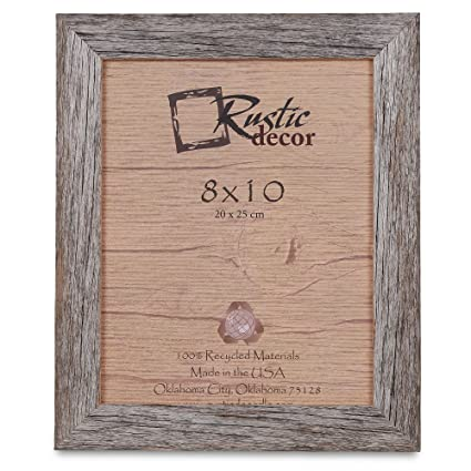 Amazoncom Rustic Decor 8x10 Picture Frames Barnwood Reclaimed