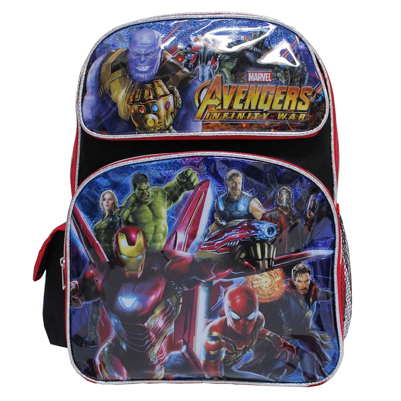 Marvel Avengers Infinity War Black & Red Large Boy's School Backpack
