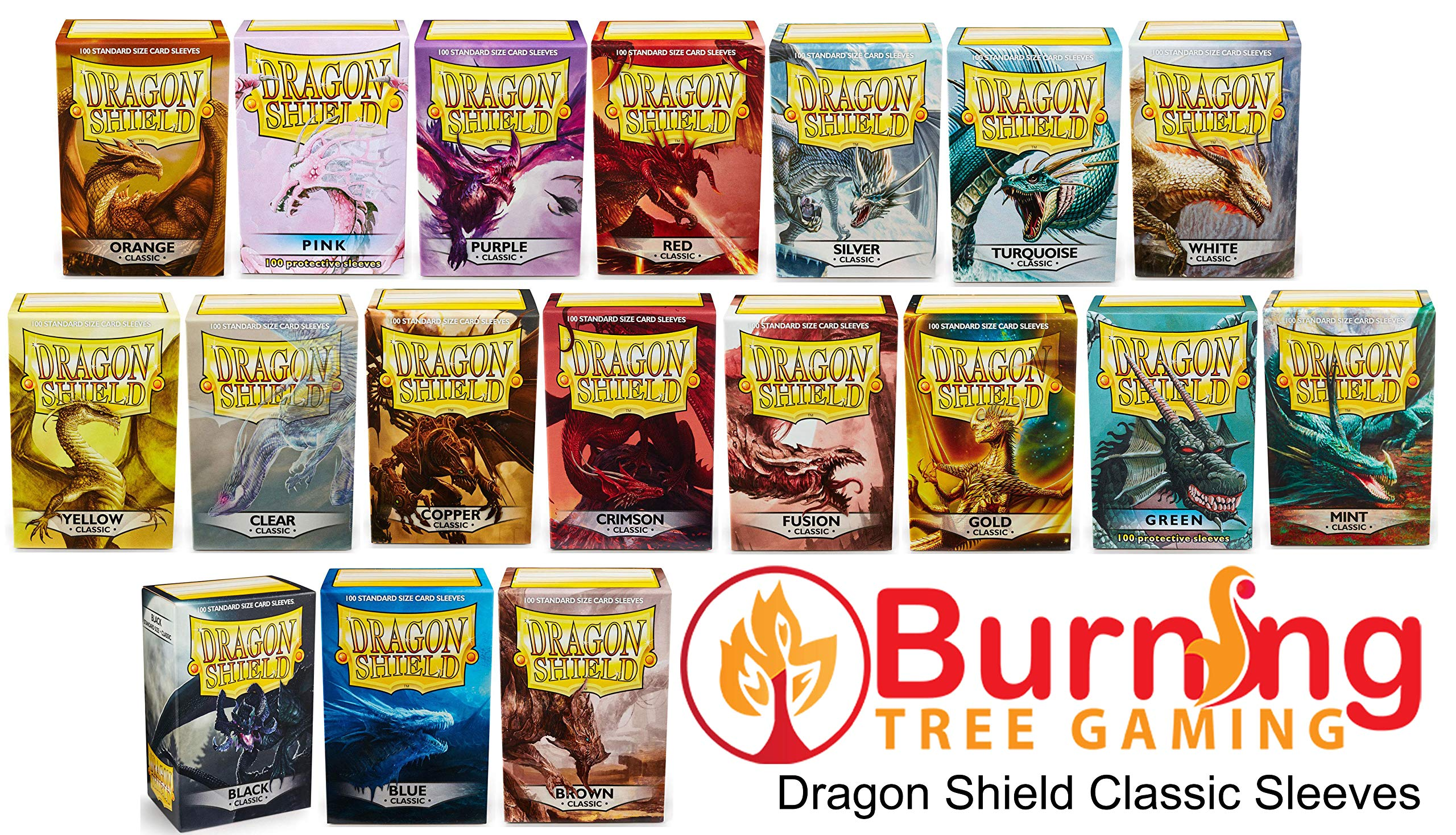 10 Packs Dragon Shield Classic Red Standard Size 100 ct Card Sleeves Display Case by Dragon Shield (Image #5)