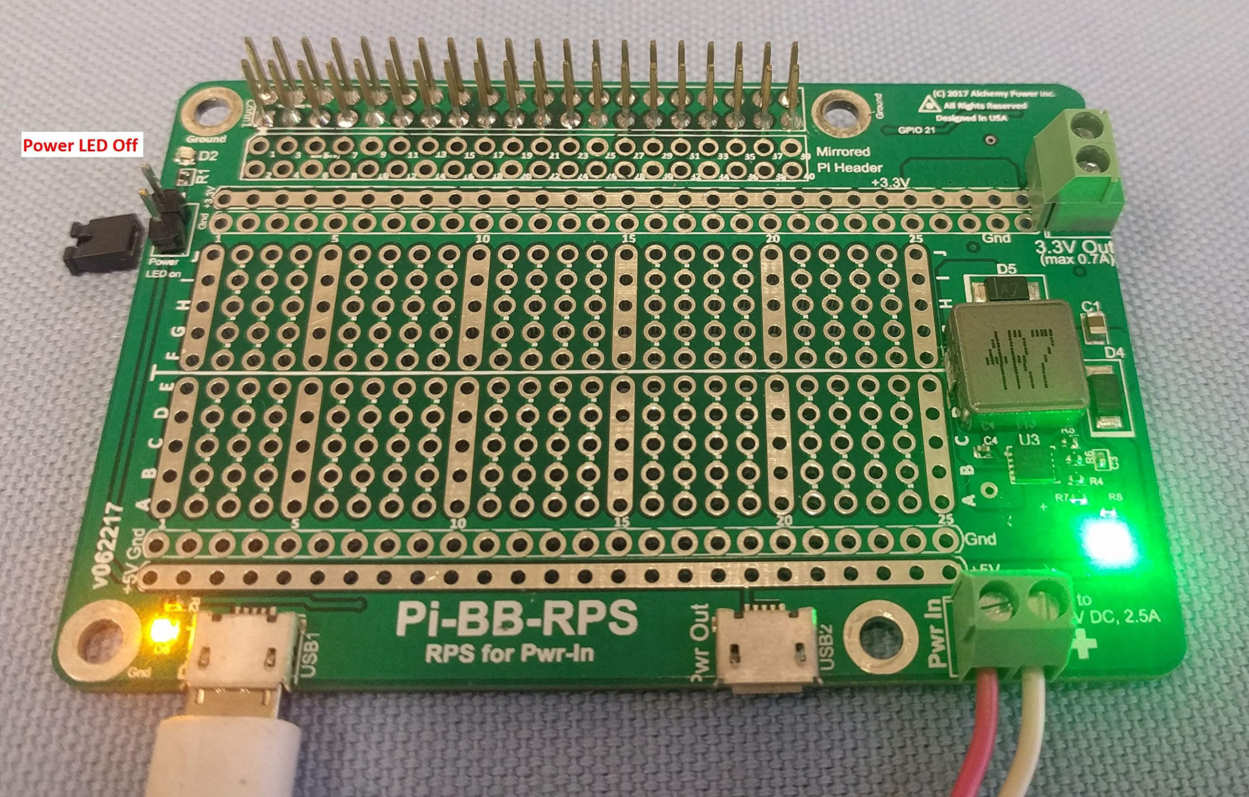 Alchemy Power Inc. Pi-BB-RPS Powered Breadboard with Redundant Power Supply (RPS) and more... by Alchemy Power Inc. TM (Image #5)