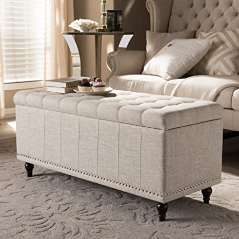 Pleasant Baxton Studio Upholstered Storage Ottoman Bench In Beige Ocoug Best Dining Table And Chair Ideas Images Ocougorg