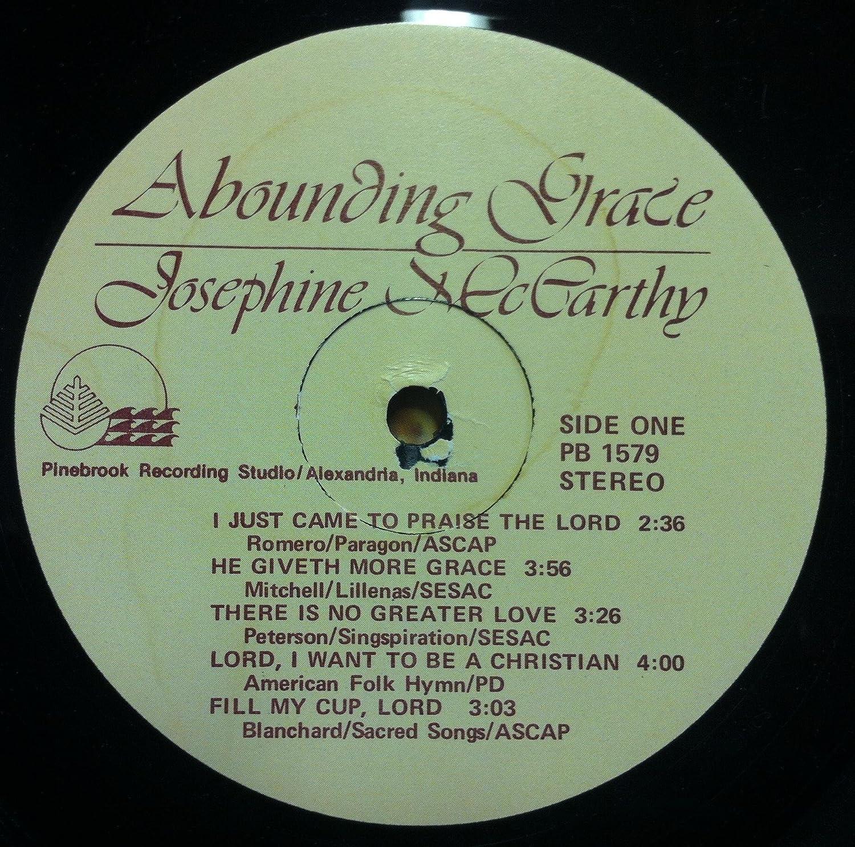 Josephine Mccarthy - JOSEPHINE McCARTHY ABOUNDING GRACE vinyl record
