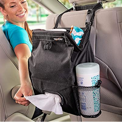 High Road Puff'nStuff Car Trash Bag Organizer and Tissue Holder (Black): Automotive