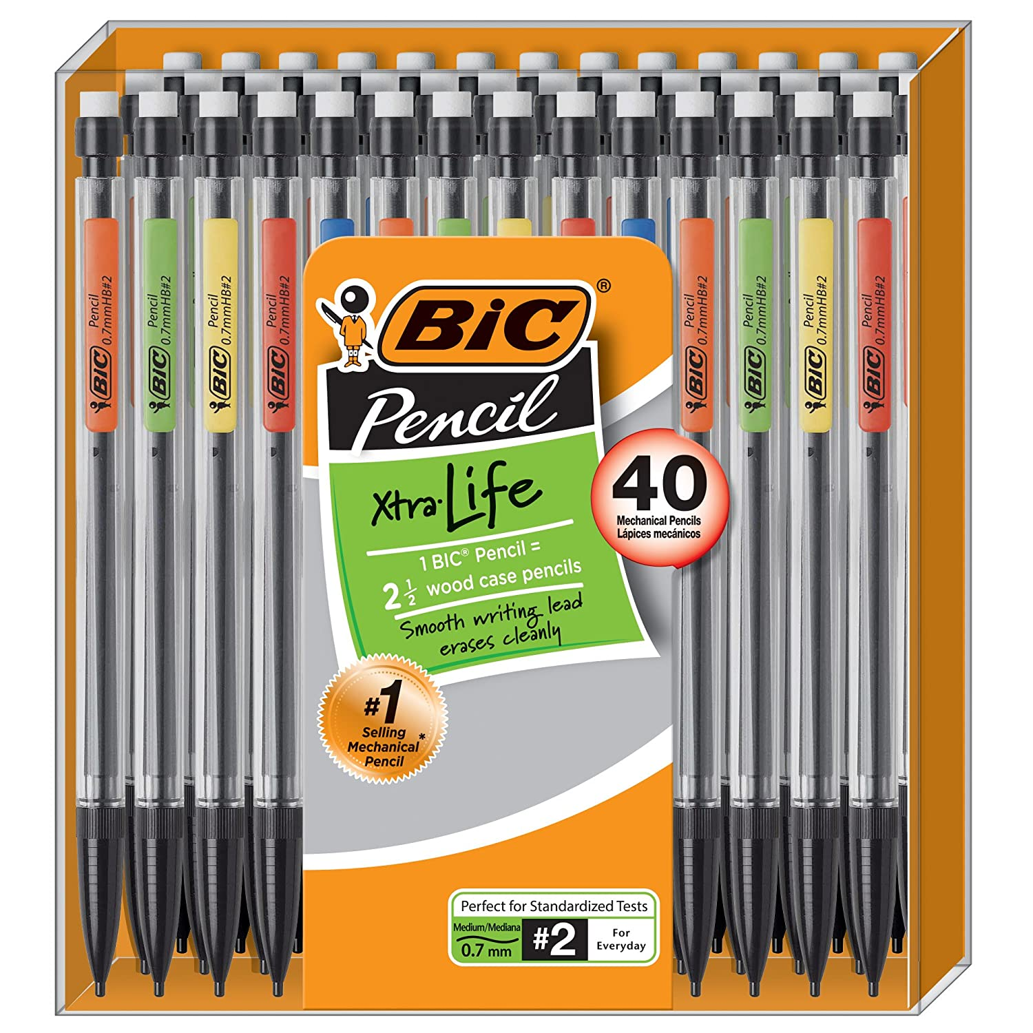 Amazon.com : BIC Xtra-Life Mechanical Pencil, 0.7 mm, 40-Count ...
