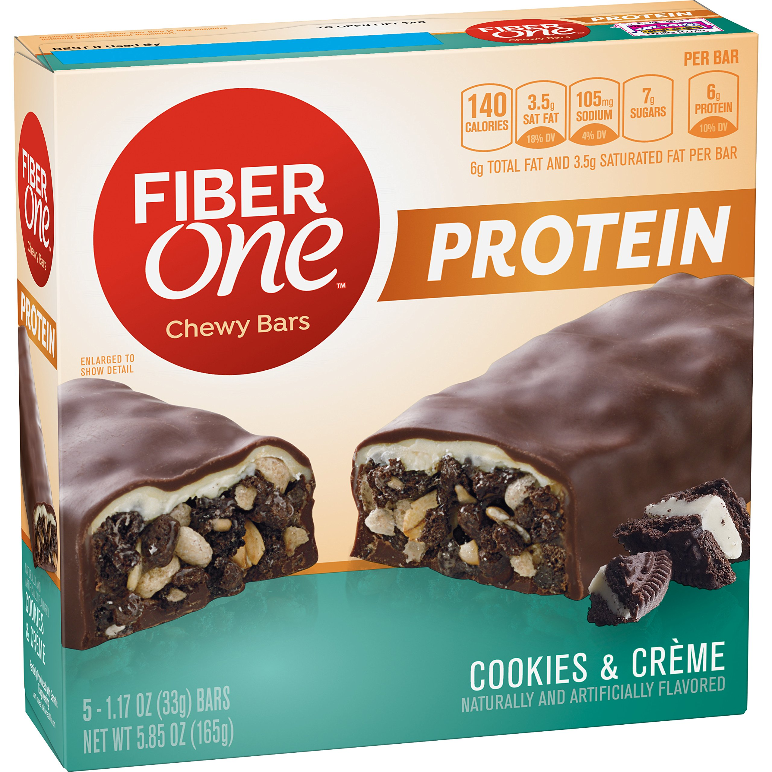 Amazon.com : Fiber One Chewy Bars, Oats and Chocolate, 36-1.4oz Bars : Sports Nutrition Food