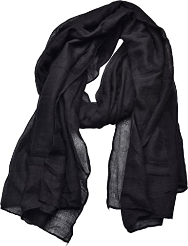 Ladies Lovely Black Star Print Soft Scarf LAST 1