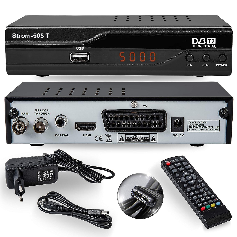 Strom-505 H 265 HEVC Receiver HD-DVB-T2 HDMI Full HD: Amazon