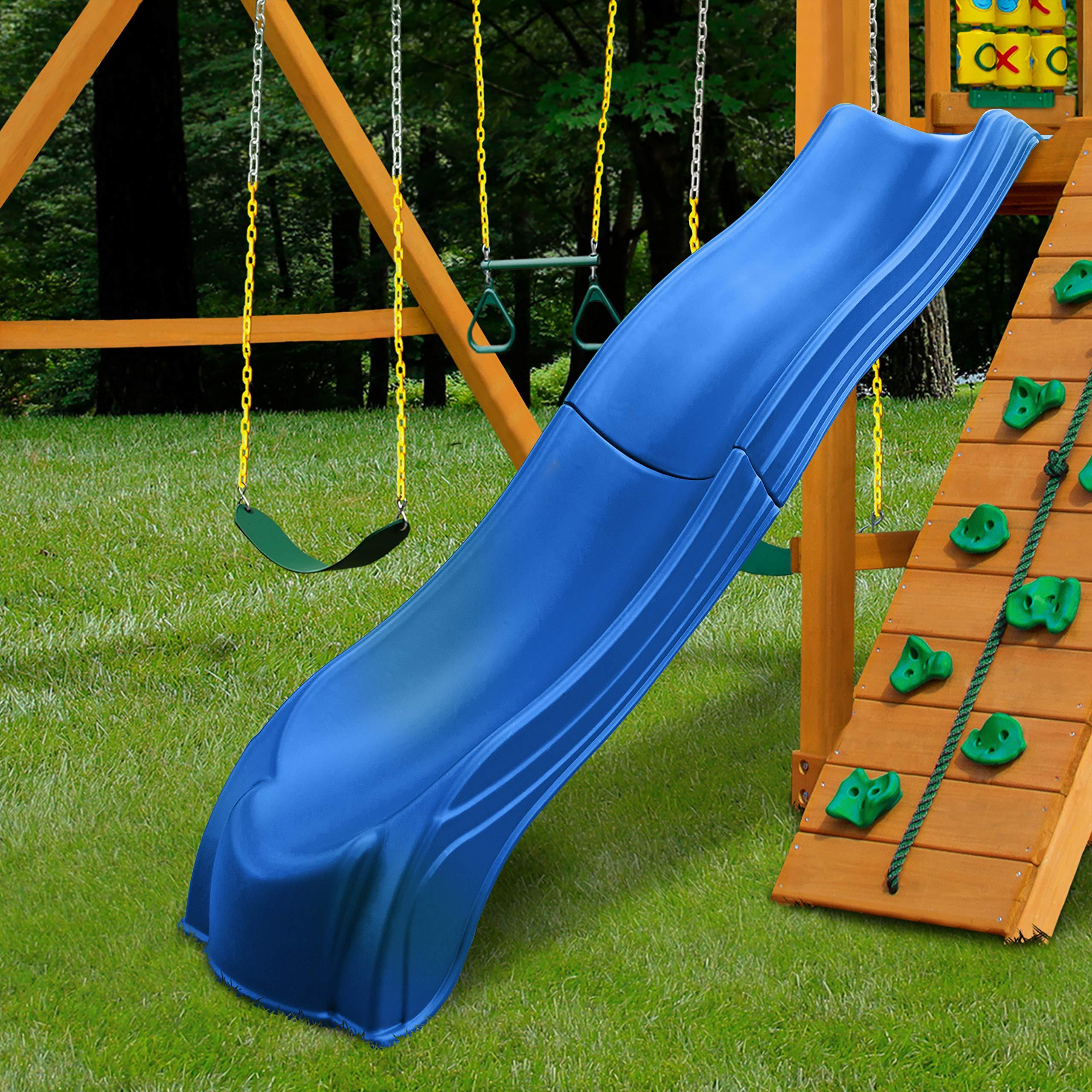 Swing-N-Slide WS 5032 Olympus Wave Slide 2 Piece Plastic Slide for 5' Decks, Blue by Swing-N-Slide (Image #3)