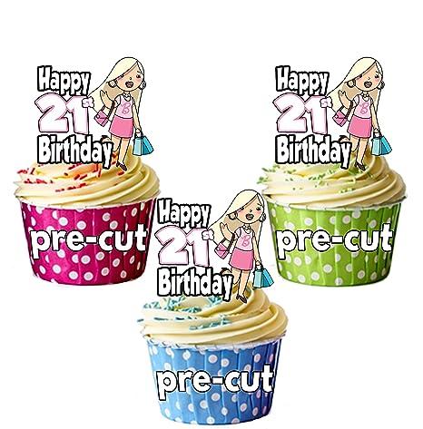 PRECUT- Bolsos de la compra Glamour para 21 cumpleaños ...