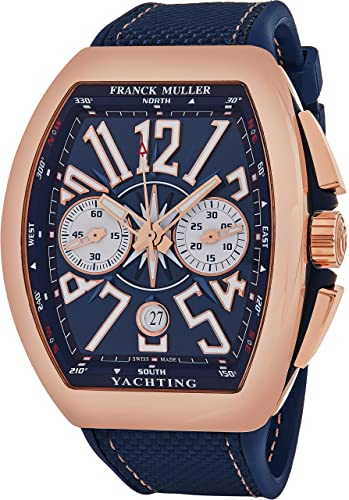 Franck Muller Vanguard Yachting - Reloj cronógrafo automático para hombre, oro rosa, esfera analógica
