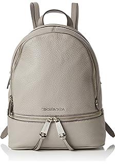 b09b601834fa Amazon.com  Michael Kors Womens Rhea Zip Backpack Handbag Beige ...