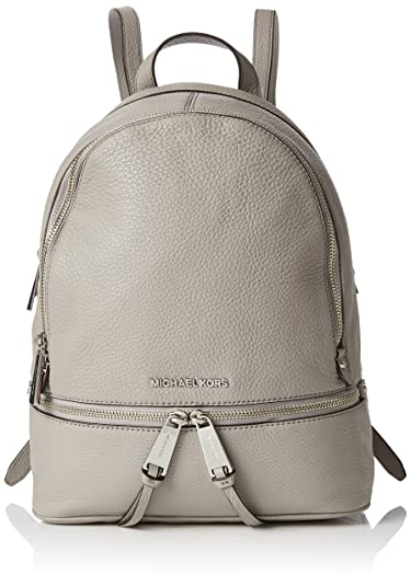 10f078145c9f Amazon.com  MICHAEL MICHAEL KORS Rhea Small Leather Backpack (Pearl Grey)   Shoes