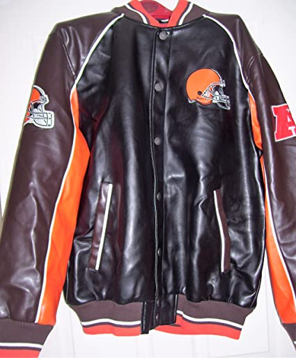 info for 5b817 376c4 Amazon.com : Cleveland Browns Faux leather jacket NFL Browns ...
