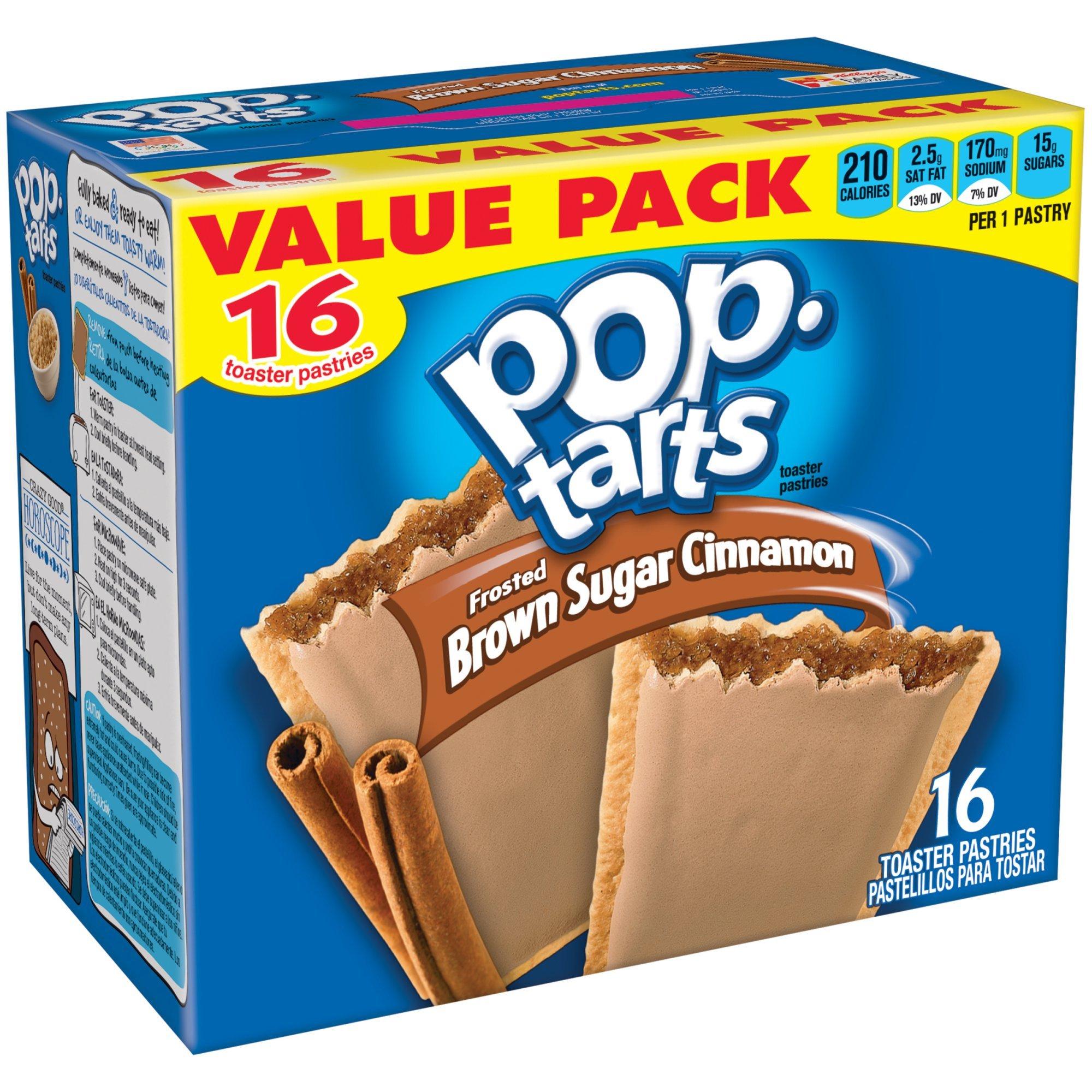 Kellogg's Brown Sugar Cinnamon Pop-Tarts Toaster Pastries, 16 ct