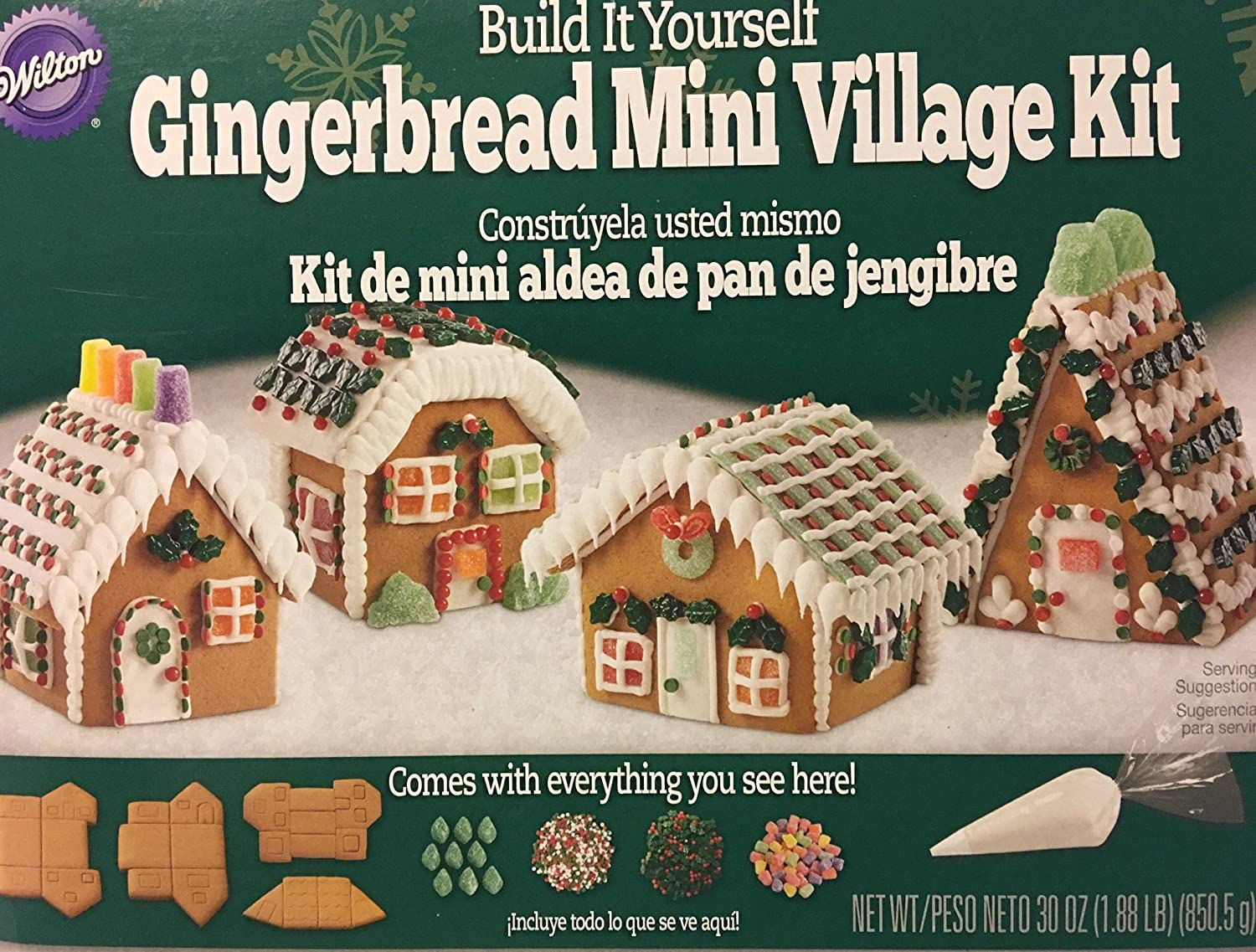Amazon.com : Wilton Build It Yourself Gingerbread Mini Village Kit : Grocery & Gourmet Food