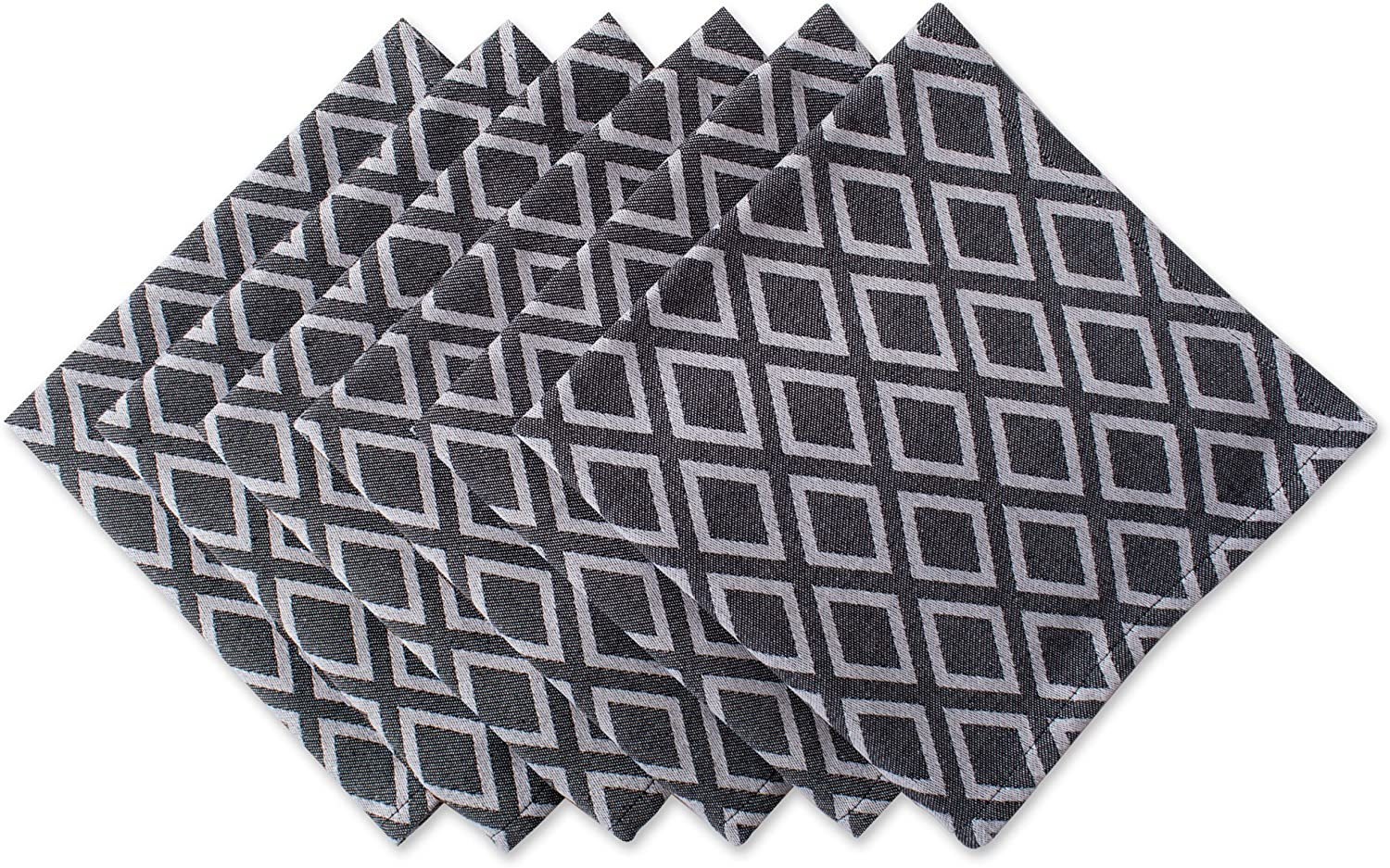 Amazon Com Dii Oversized 20x20 Cotton Napkin Pack Of 6 Black And White Diamond Perfect For Special Occasions Modern Décor Catering Events Or Everyday Use Home Kitchen