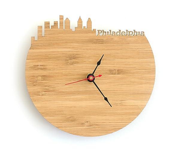 Amazoncom Philadelphia Skyline Clock Handmade