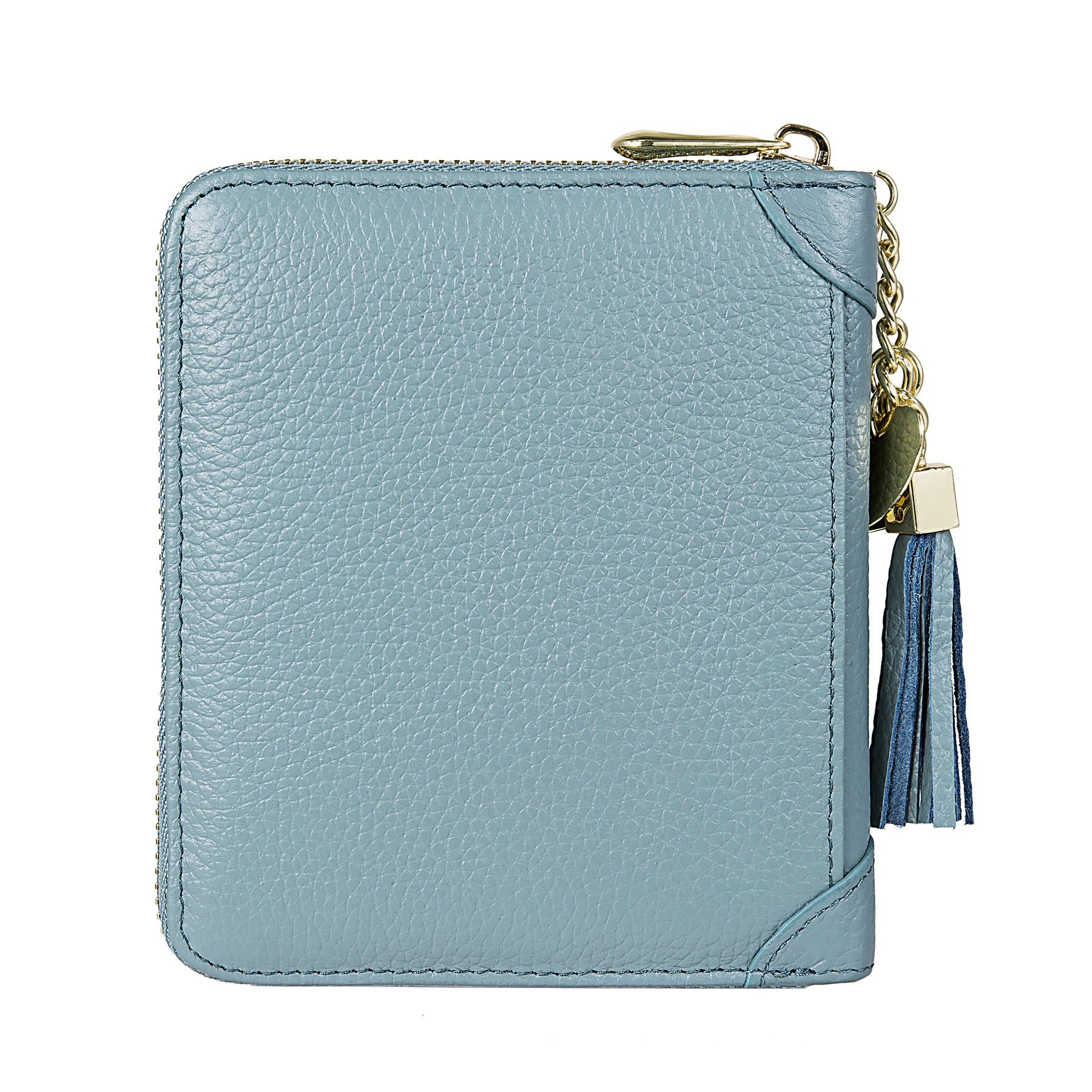 SafeCard 40 Card Solts Women's Credit Card Case Wallet 2 ID Window and Zipper Card Holder (40 Card Blue) by ZORESS (Image #3)