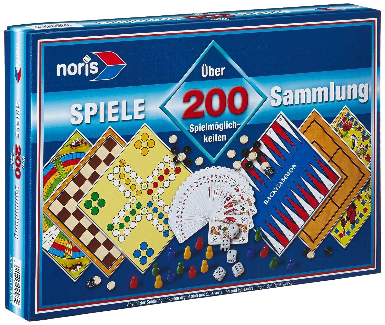 Spielesammlung mit 200 Spielmöglichkeiten [importato dalla Germania] NORIS 606112583 Spielen / Raten