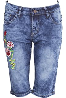 oodji Ultra Femme Short Long en Jean  Amazon.fr  Vêtements et ... 32b88cd2ed5