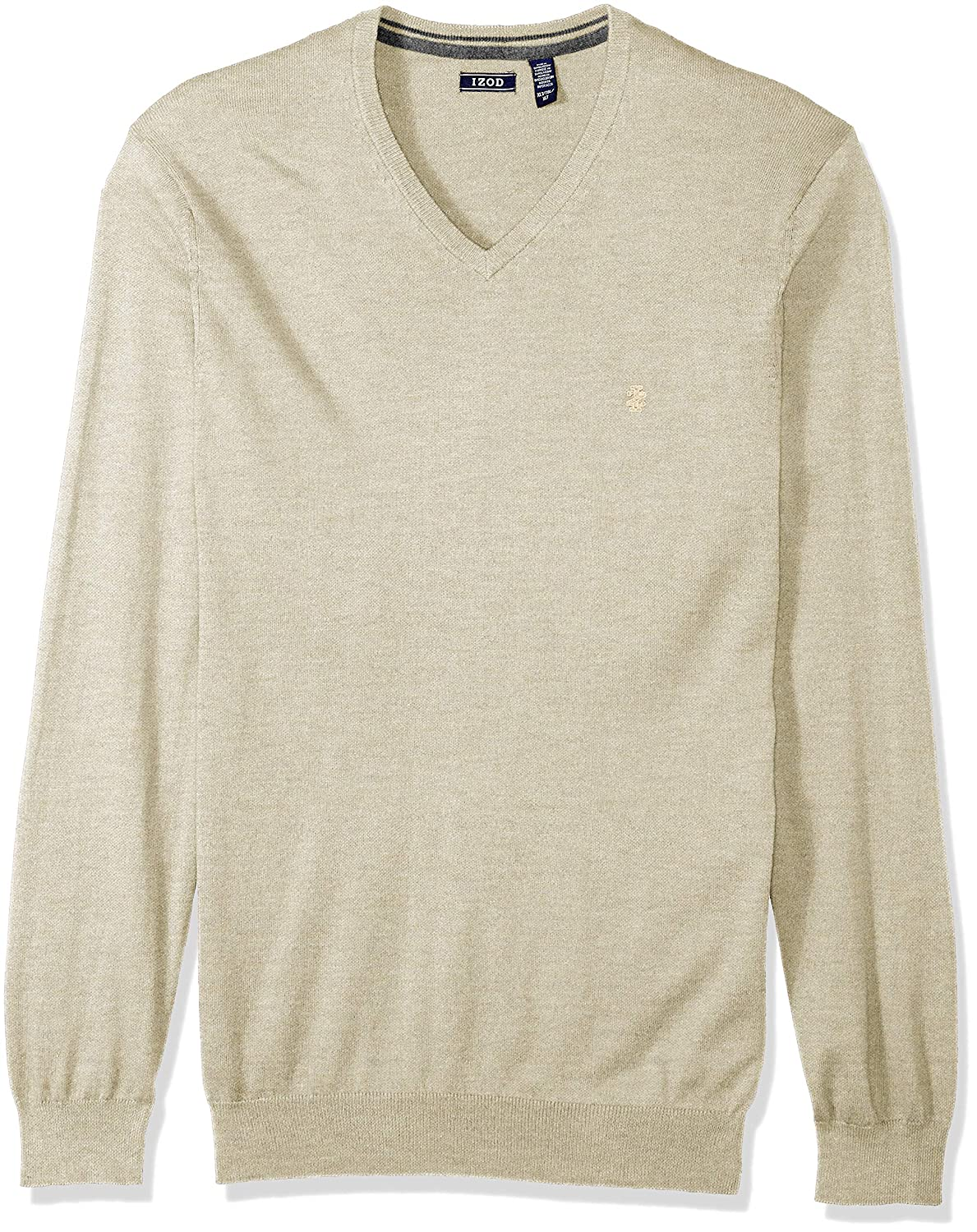 IZOD Men's Big and Tall Fine Gauge Solid V-Neck Sweater Rock Heather 4X-Large 45X2692