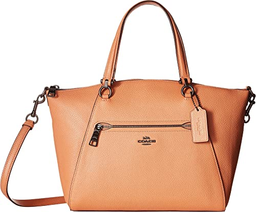 40bc368cf6a77 Amazon.com  COACH Women s Prairie Satchel in Polished Pebble Leather  Dk Dark Blush One Size  Shoes