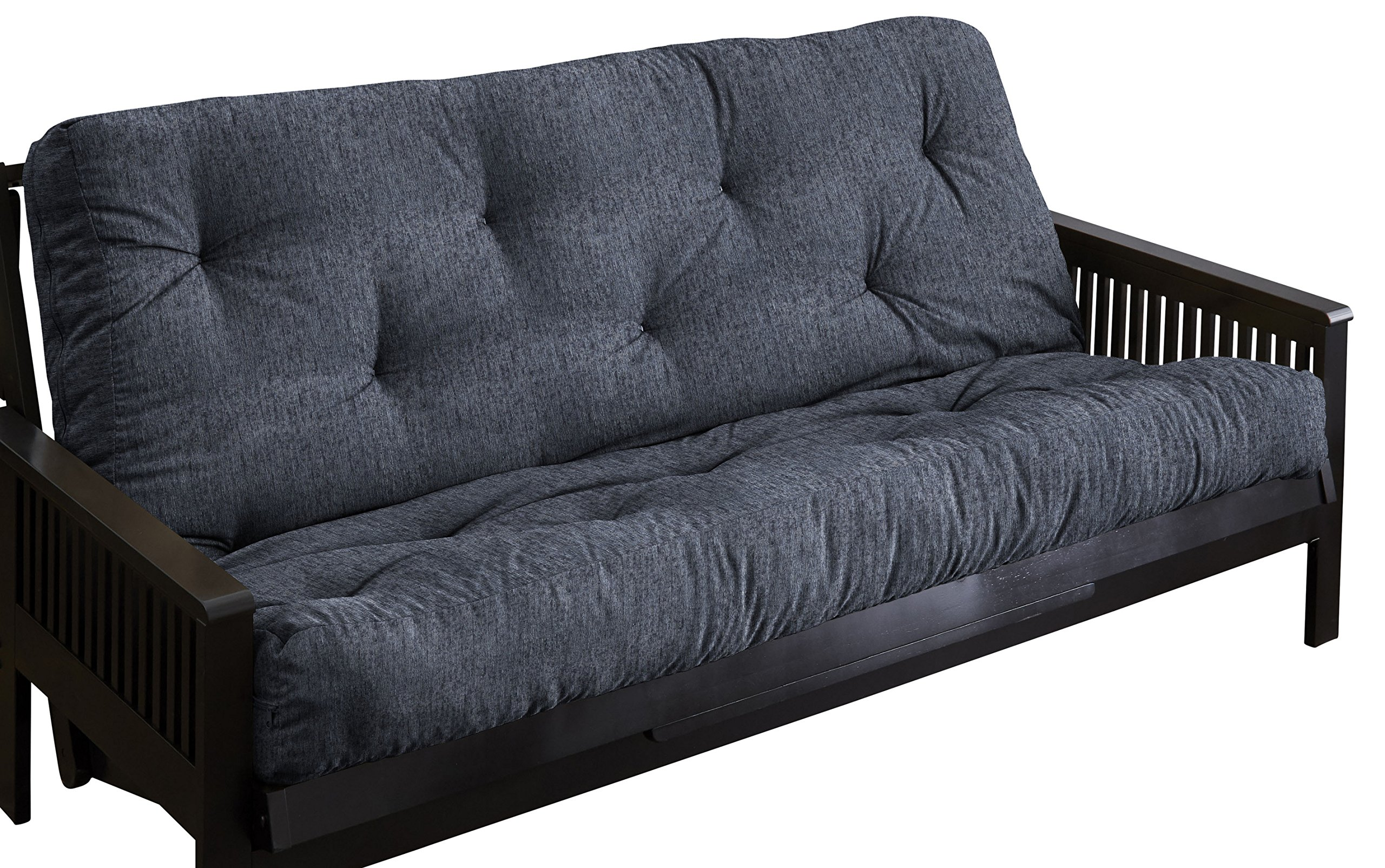 Mozaic AMFT114910 Textured Blue Grey Full Size 5'' Thick Futon Mattress by Mozaic