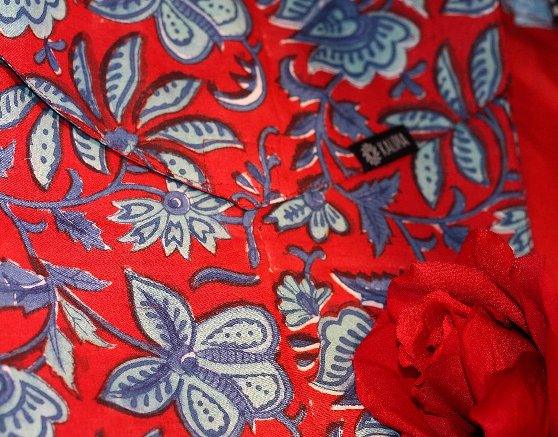 """Handdruck mit Naturfarben auf 100/% Baumwolle Ma/ß- Anfertigung mit Stoff Bund oder Stretch Bund Kalima Midi Rock /""""Almwiese/"""" Der Perfekte Schnitt f/ür jede Frau"""